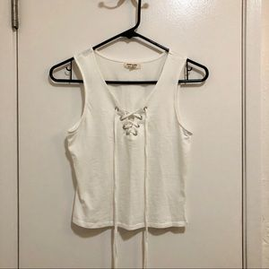 Forever 21 White Tank Top